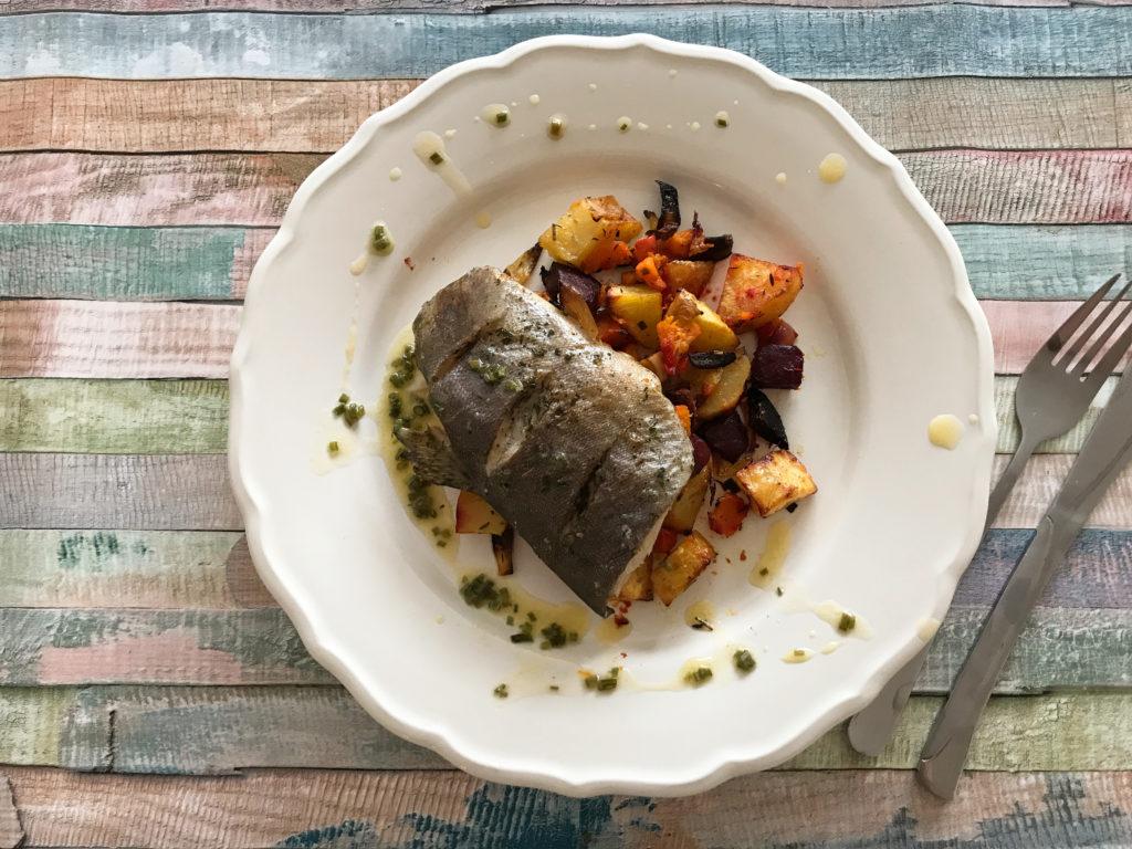 Ryba na podzimní zelenině