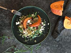 Salát s pečenou dýní