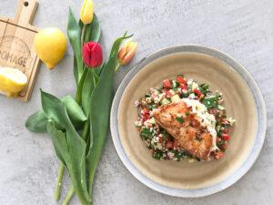 krůta s tabbouleh salátem
