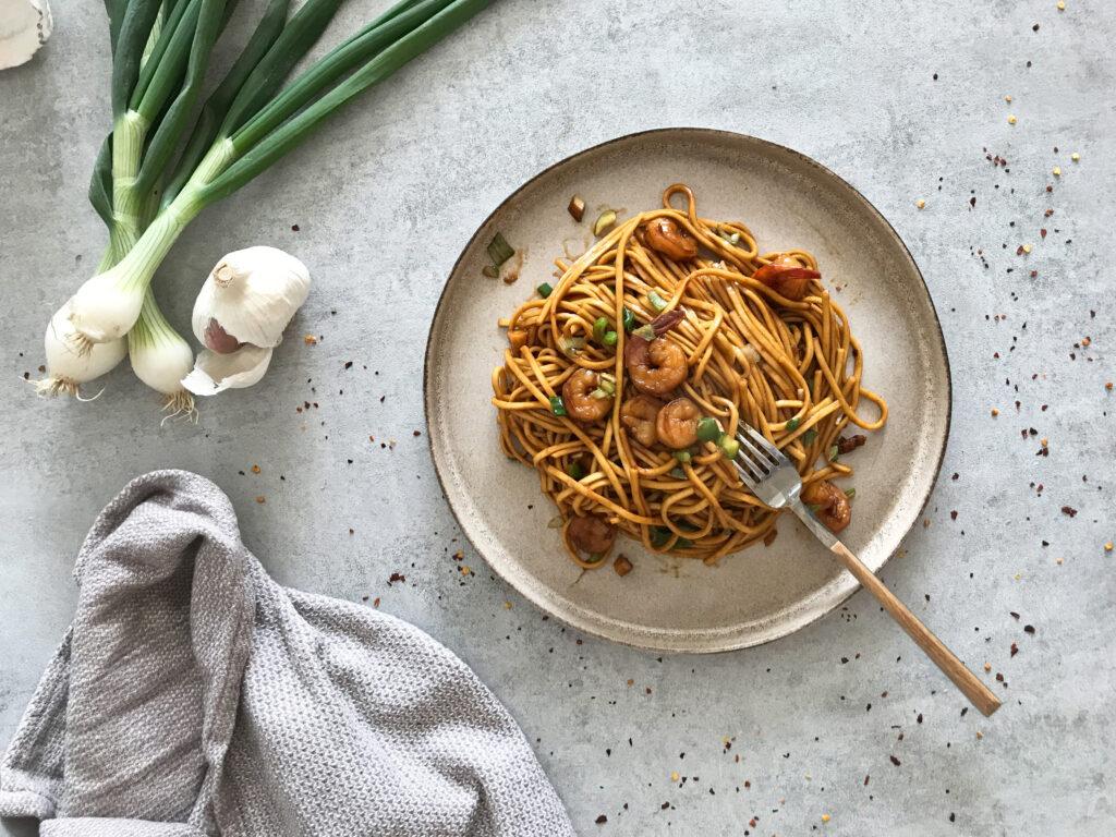 spagety s krevetami